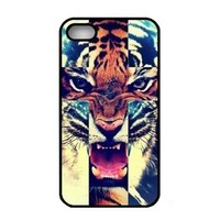 Generic Various New Stylish Personalized Protective Snap On Hard Plastic Case For iphone 4 4G 4S (Tiger Roar) (Fashion design-1)