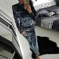 Women's Casual Velvet Tracksuit-BUYFYE Members ONLY