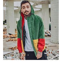 Corduroy Patchwork Jacket - CannaWinter Collection