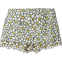 Red Valentino Daisy Embroidered Shorts - Luisa Boutique - Farfetch.com