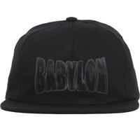 Chain Strapback Hat Black