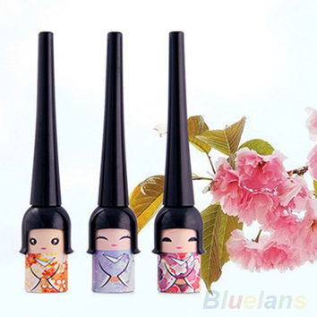 Black Waterproof Cute Doll Eyeliner Liquid Pen Makeup Cosmetic Eye Liner