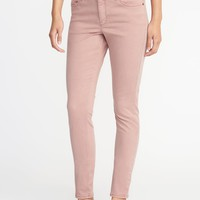 Mid-Rise Sateen Rockstar Jeans for Women   Old Navy