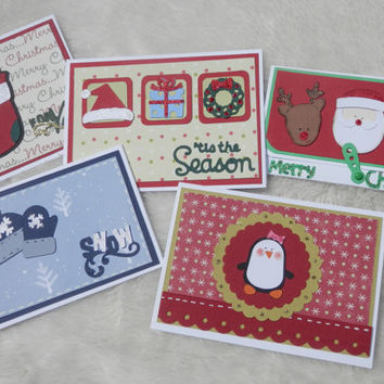 Assorted Christmas Gift Card Holders - Set of 5