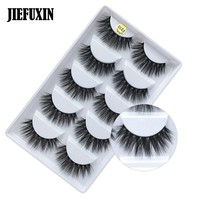 New 5 pairs thick false eyelashes black long 3d mink eyelashes eyelash extension professional mink lashes makeup eye lashes