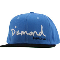 Diamond Supply Co OG Logo Snapback Cap (sky blue / black / white) Apparel HOGSBSBW | PickYourShoes.com