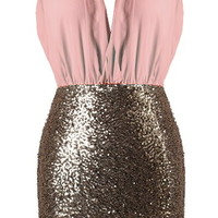 Pastel Icing Dress   Mint Gold Sequin Mini Party Dresses   Rickety Rack