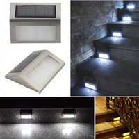 Solar Power Led Light Outdoor Home Garden Yard Wall Pathway Stair Staircase Lamp