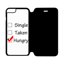 Custom Single Taken Hungry Cute Cool Funny iPhone 6 Plus Flip Case Cover