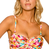 Sunsets Separates Bright Side - Underwire Twist Bandeau Bikini Top