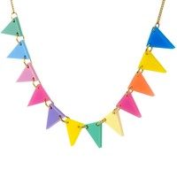 Pastel Rainbow Bunting Necklace