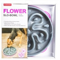 Dog Games Kyjen Flower Slo-Bowl Slow Feeder for Dogs Slow Feed Dog Bowls