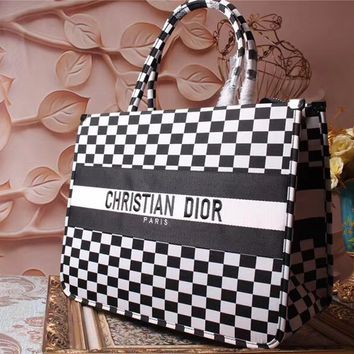 DIOR WOMEN'S CANVAS SHOPPING BAG TOTE BAG