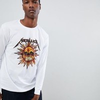 ASOS DESIGN Metallica relaxed long sleeve t-shirt at asos.com