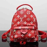 Louis Vuitton LV Woman Men Fashion Leather Backpack Daypack Bookbag