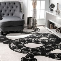 nuLOOM Thomas Paul Power loomed Serpent Area Rug