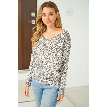 The Right Words Leopard Top