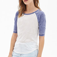 FOREVER 21 Burnout Baseball Tee