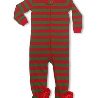 """Leveret Footed """"Christmas"""" Pajama Sleeper 100% Cotton (Size 6M-5T)"""
