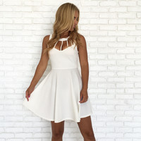 Fortune In My Favor Skater Dress In White