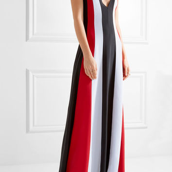 Gabriela Hearst - Somerset striped silk-crepe gown