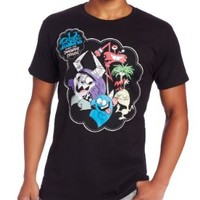 Cartoon Network Men's Fosters Home Group Shot T-Shirt, Black, Medium