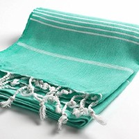 Cacala Pestemal Turkish Bath Towels 37x70 %100 Cotton Mint Green