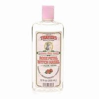 Thayers Alcohol-Free Witch Hazel with Organic Aloe Vera Formula Toner, Rose Petal