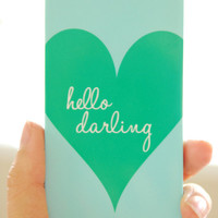 Personalized iPhone Case - HELLO DARLING Collection, choice of color