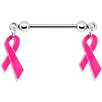 Breast Cancer Pink Ribbon Nipple Ring | Body Candy Body Jewelry