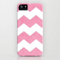 chevron - pink iPhone & iPod Case by her art