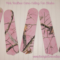 Pink Realtree AP Camo Ceiling Fan Blades Replacements