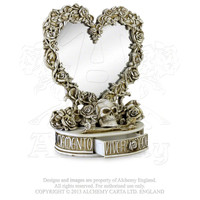 Alchemy Gothic The Vault Oracle of Narcissus Roses & Skull Mirror *LAST CHANCE*