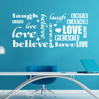 Wall of Words Vinyl Wall Art FREE Shipping Peace by showcase66