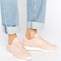 Reebok Classic Leather Trainers In Nude at asos.com