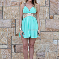 GOLDEN MOMENT DRESS , DRESSES, TOPS, BOTTOMS, JACKETS & JUMPERS, ACCESSORIES, 50% OFF SALE, PRE ORDER, NEW ARRIVALS, PLAYSUIT, COLOUR, GIFT VOUCHER,,Green,Sequin,SLEEVELESS,MINI Australia, Queensland, Brisbane