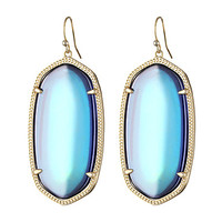 Kendra Scott Danielle Earrings Gold Mystic Iridescent Clear Glass - Zappos.com Free Shipping BOTH Ways
