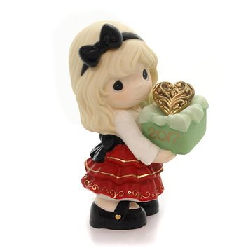 Precious Moments DATED 2017 FIGURINE Porcelain Share Gift Of Love 171001