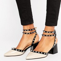 ASOS SIXTH SENSE Studded Mid Shoes at asos.com