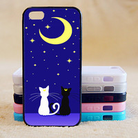 Sailor Moon, Luna and Artemis Cat, iPhone 5/ 5C / 5S Case, iPhone  4 Case, iPhone 4S Case,Samsung S3/S4/S5/Note,iPad,iPod,Case,More