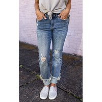 The Kaylee Judy Blue Cuffed Jeans