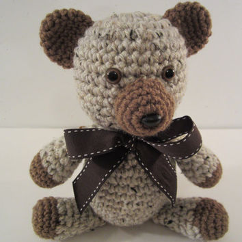Crochet Stuffed Teddy Bear Cutie, Amigurumi Bear, Classic Teddy Bear Plush Handmade by CROriginals