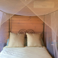 4 Poster Polyester bed canopy moqutio net, 3 openings, you dont need a 4 poster bed comes with ceiling hooks