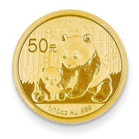 24K Yellow Gold Authentic Panda Currency Coin