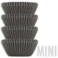 Mini Solid Black Baking Cups