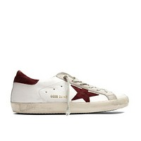 Golden Goose Deluxe Brand Superstar Sneakers White Burgundy