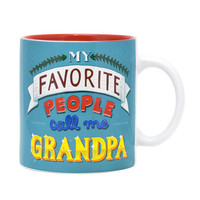 My Favorite People Call Me Grandpa Oversized Mug or Soup Cup-Holds 20 Oz.