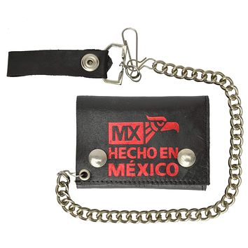Hecho en Mexico Genuine Leather Trifold Chain Wallet 946-34 (C)