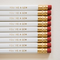 You're a Gem Pencils (Set of 9) | BRIKA - A Well-Crafted Life