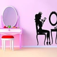 Vinyl Wall Decal Sticker Bedroom Cosmetic Table Fashion Style Girls Beauty Kid R1670